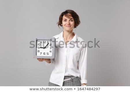 pontos · irodai · dolgozó · üzletasszony · visel · hivatalos · öltöny - stock fotó © elnur