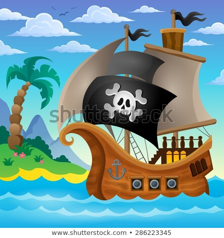 Pirate in boat topic image 3 Stock photo © clairev