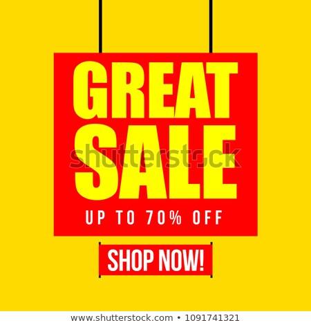 Hot lata sprzedaży w górę procent Zdjęcia stock © robuart