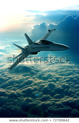 Military airplanes in the sky Stock photo © vapi