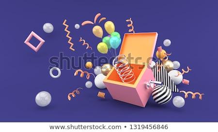 幸せ ピエロ 紫色 バルーン 実例 背景 ストックフォト © colematt