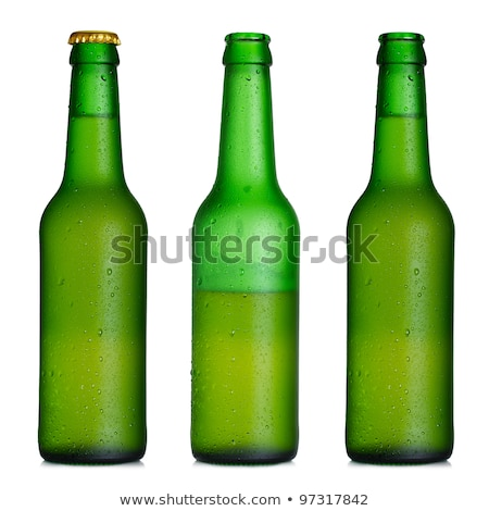Beer and Bottle Opener with Cap Isolated on White Stock photo © robuart