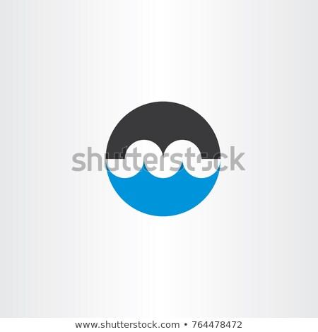 Ponte água onda logotipo letra m ícone Foto stock © blaskorizov