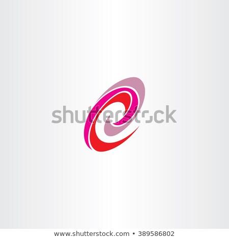 Vermelho magenta spiralis logotipo vetor Foto stock © blaskorizov