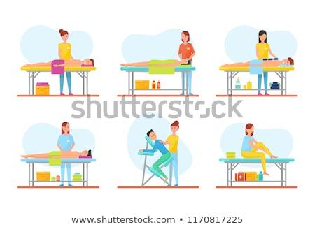 マッサージ 戻る 特別 椅子 アイコン ベクトル ストックフォト © robuart