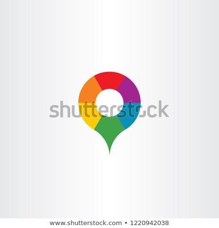 map marker letter o colorful logo icon vector stock photo © blaskorizov