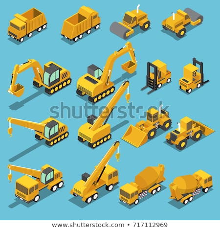 Excavator and Bulldozer Industrial Machinery Icons Stock photo © robuart