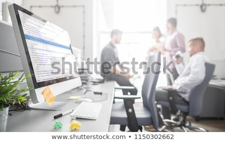 Programmer Outsource Developer coding technologies Website desig Stock photo © snowing