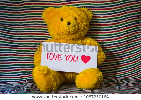 Bear Plush Toy with Love Letter Valentines Holiday Stock photo © robuart