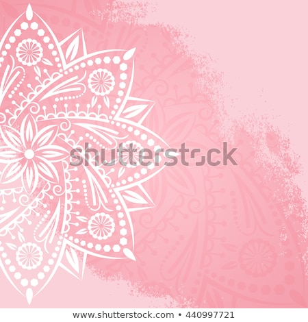 Lotus flower vector design, Indian ornamental pattern, Mehndi henna tattoo decoration - yoga greetin Stock photo © RedKoala