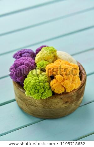 Karfiol különböző színek tál nyers pasztell Stock fotó © nito