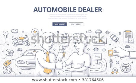 Car rent - modern line design style banner Stock photo © Decorwithme