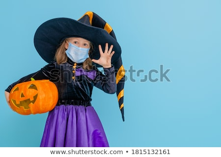 children with trick or treat for halloween stock photo © adrenalina