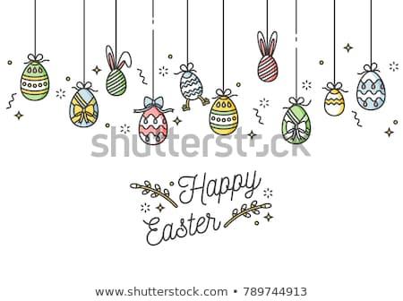 イースター · 春 · チューリップ · 花 · 白 · 花瓶 - ストックフォト © grafvision