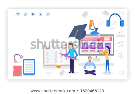 Best Methods Self Study Website with Text Sample Stock photo © robuart