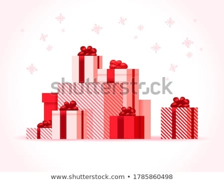 gift boxes decorated with ribbons isolated icons stock photo © robuart