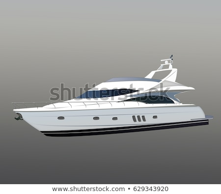 modern motor yachts and white sailboat on water stock photo © robuart