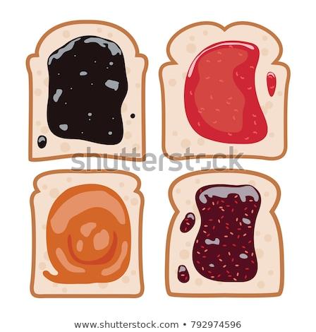 ベクトル · セット · 白パン · スライス · フルーツ · ジャム - ストックフォト © freesoulproduction