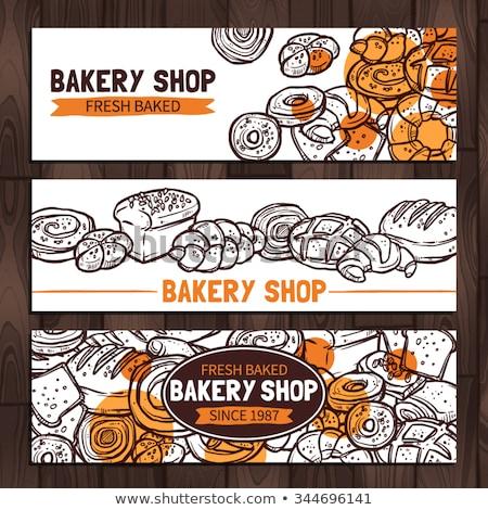 Horizontal bannières boulangerie eps 10 Photo stock © netkov1