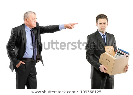 Boss Angry with Worker, Sacked Person with Boxes Stock photo © robuart