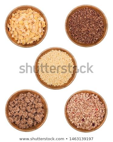 beyaz · çanak · doğal · organik · granola · tahıl - stok fotoğraf © denismart