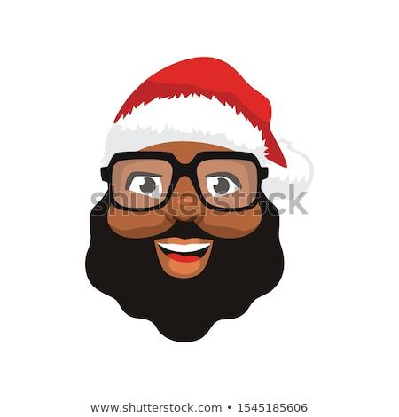 Sevimli noel baba yüzler Noel tatil Stok fotoğraf © Pravokrugulnik