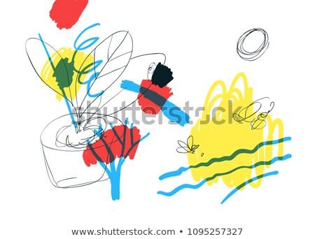 鉛筆 スタイル ラフ スケッチ ツリー ストックフォト © Blue_daemon