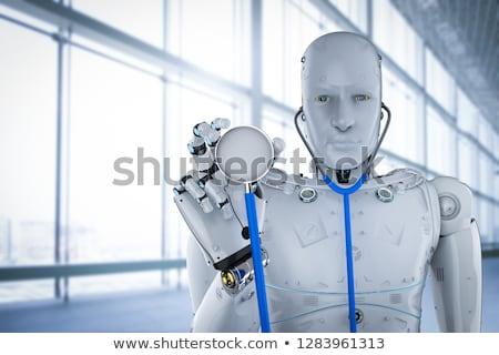 Humanoide robot médicos ayudante estetoscopio 3d Foto stock © limbi007