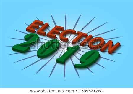 2019 general election background poster design Stock photo © SArts