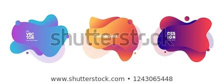 Colorful Trendy Bubble Badges Set. Vector Illustration. Stock photo © tashatuvango
