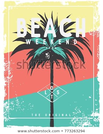 praia · férias · vetor · estilo · projeto · lugar - foto stock © robuart