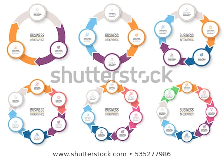 Infographic, Pie Diagram Circle Chart with Info Stockfoto © robuart