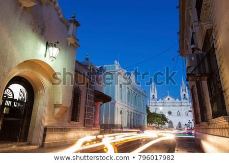 Stok fotoğraf: Katedral · tiyatro · El · Salvador · şehir · mavi