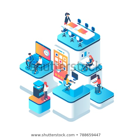 Vector startup process concept creative business illustration with working people.  stock photo © Giraffarte