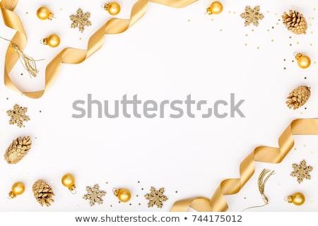 Navidad oro estrellas azul feliz Foto stock © Melnyk