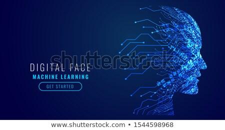 技術 顔 回路 図 インターネット デザイン ストックフォト © SArts