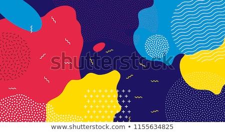 abstract vibrant memphis banner design Stock photo © SArts