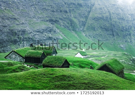 Stock photo: Saksun Mountain Village