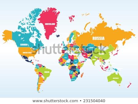 Austrália · Nova · Zelândia · global · mundo · vetor · mapa - foto stock © conceptcafe