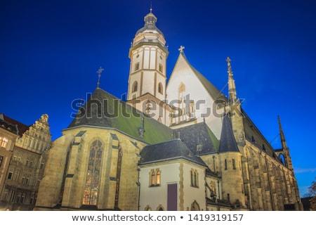 Stockfoto: Kerk · hemel · stad · landschap · Blauw · reizen