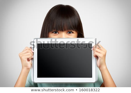 Little Girl Holding Camera In Front Of Her Face Stock photo © AndreyPopov