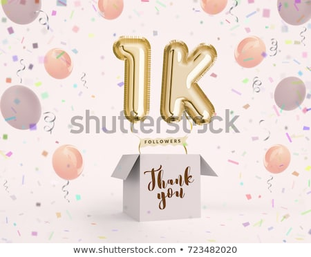 1000 followers network thank you poster Stock photo © SArts