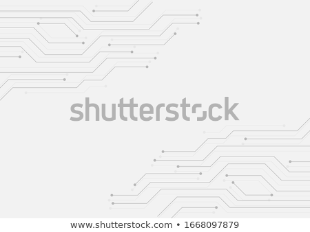 white background with circuit lines technology banner stock photo © sarts