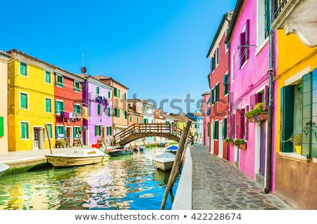 Painted Houses In Burano, Italy Stock photo © AndreyPopov