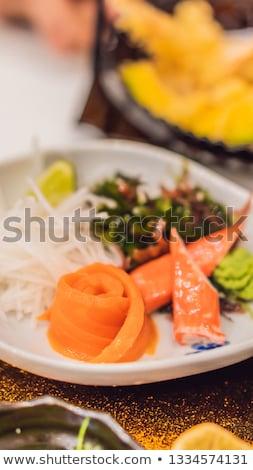 japanese bento set food at a japanese restaurant vertical format for instagram mobile story or stor stock photo © galitskaya