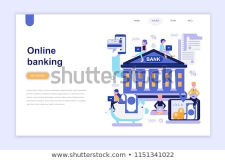 Banku konto lądowanie strona szablon karty kredytowej Zdjęcia stock © RAStudio