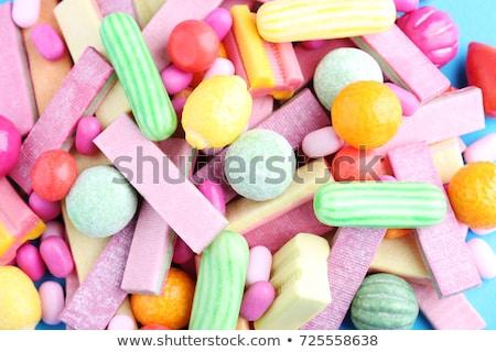 Különböző rág menta cukorkák cseppek fényes Stock fotó © dariazu