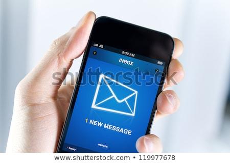 Férfi posta bejövő üzenetek mobiltelefon közelkép kéz Stock fotó © AndreyPopov