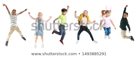 Set of happy children in different actions Stock photo © bluering