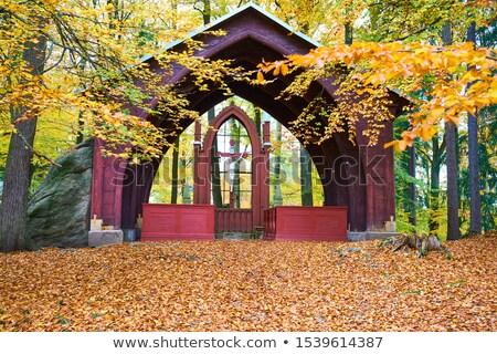 Kasteel Tsjechische Republiek wijk bouwkundig stijl gras Stockfoto © borisb17